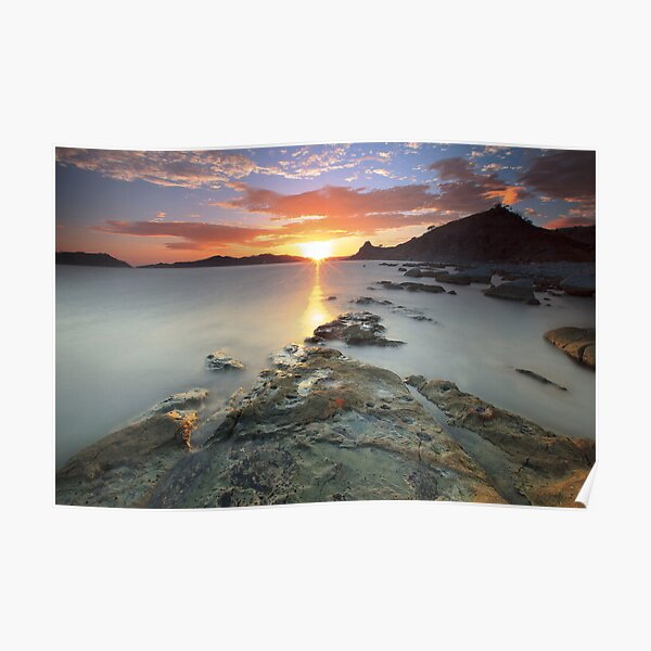 Sisiman Bay Sunset Poster