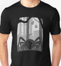 Camiseta unisex LIMBO - araña - PERDIDO en madera oscura