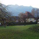 Landscape in Vaduz, Liechtenstein by SkiCC