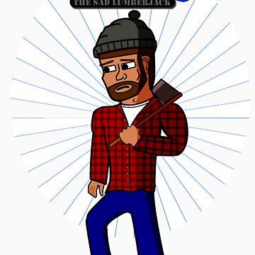 Manny the Sad Lumberjack Tee by brennanpearson