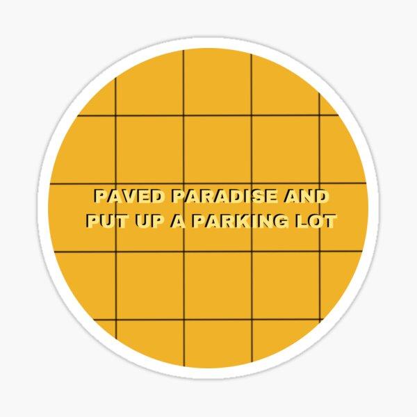 Big Yellow Taxi Sticker Sticker