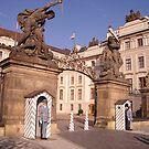Guards outside Prague Castle, Prague, Czech Republic by Jekusha