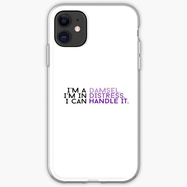 Damsel. Distress. Handle It. Purple! iPhone Soft Case