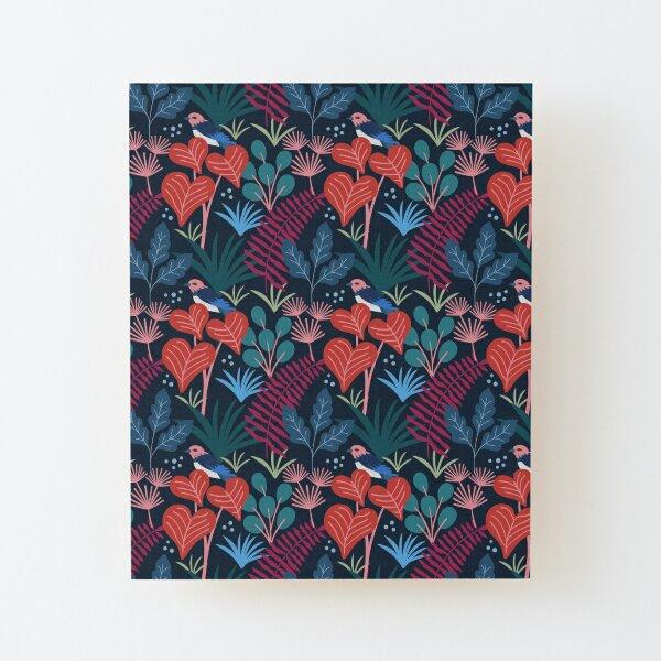 Spring Pattern Bird 16 Wood Mounted Print