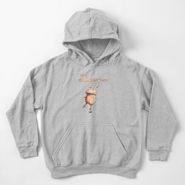 Kwii the kiwi bird & Equilibrium for kids clothes Kids Pullover Hoodie