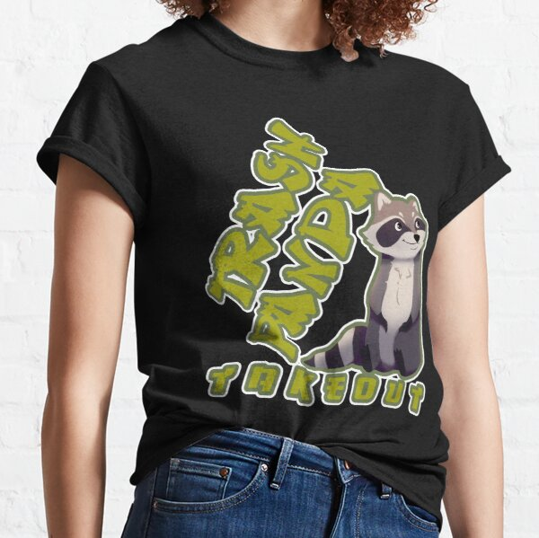 Cute Trash Panda Takeout Foodie Classic T-Shirt