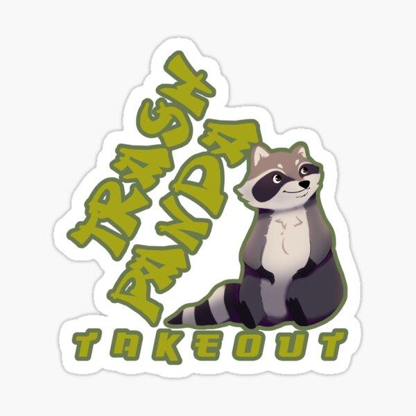 Cute Trash Panda Takeout Foodie Sticker