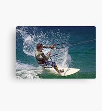 Kite Surfing at Merimbula Canvas Print