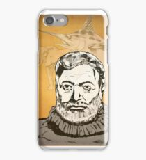 Ernest Hemmingway art iPhone Case/Skin