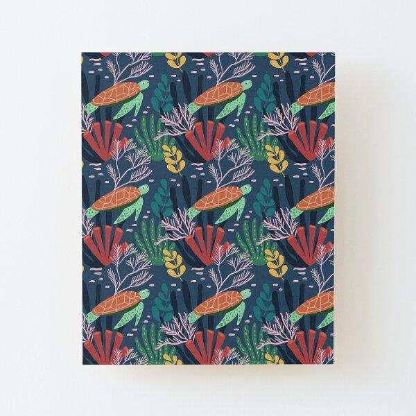 Spring Pattern Tortoise 1 Wood Mounted Print