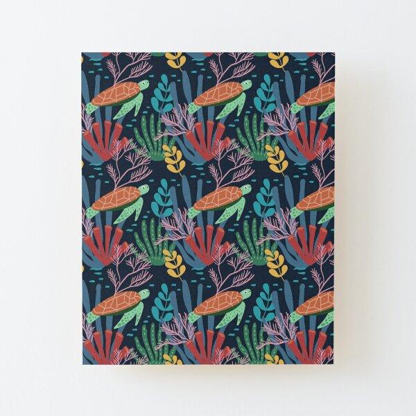 Spring Pattern Tortoise 2 Wood Mounted Print