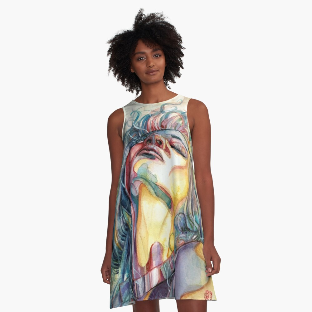 Eternal Moment - Watercolor Art by Tony Moy A-Line Dress