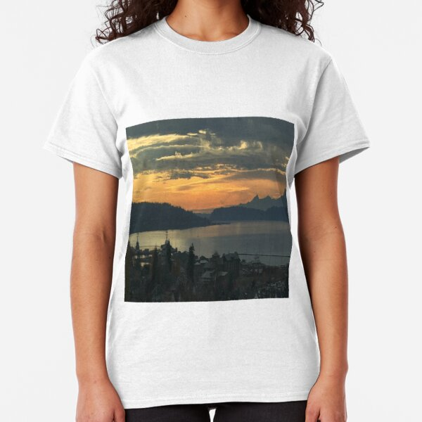 Cityscape Original Printed Short Sleeve Shirt Size XS-2XL Big,Aerial View of Old
