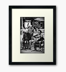 busking in Bourke Street Framed Print