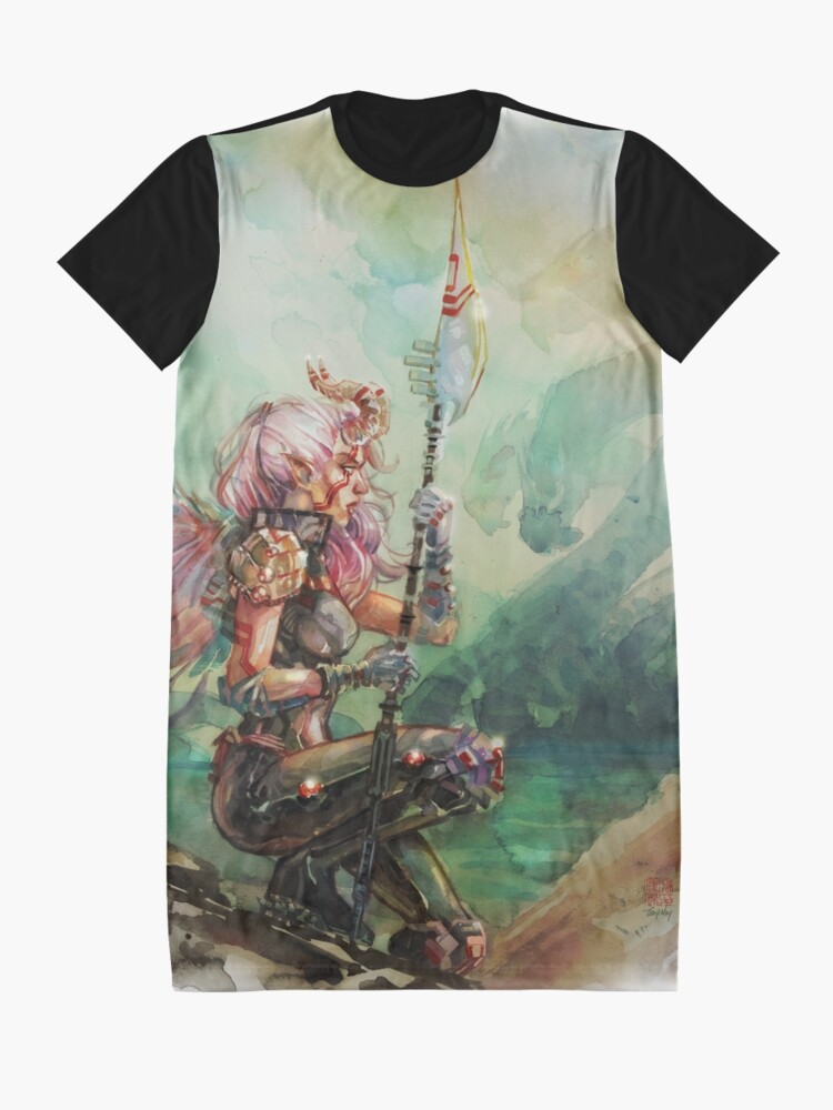 Alternate view of Angel's Quest - Watercolor Art by Tony Moy Graphic T-Shirt Dress