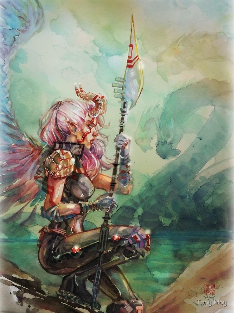 Angel's Quest - Watercolor Art by Tony Moy by tony-moy