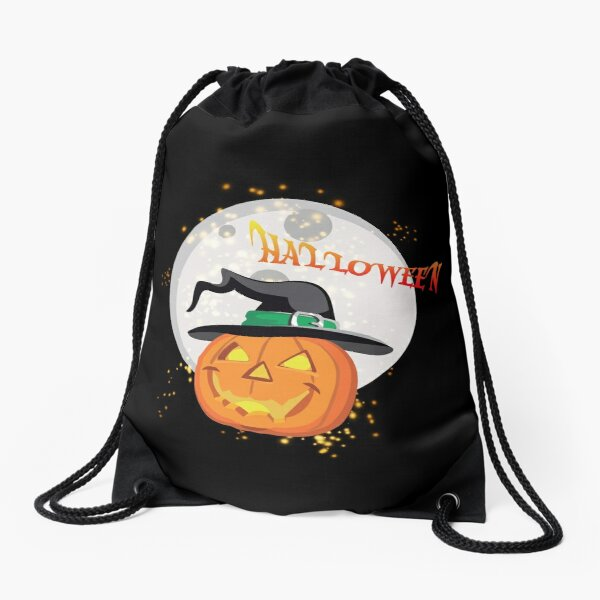 Halloween's pumpkin Drawstring Bag