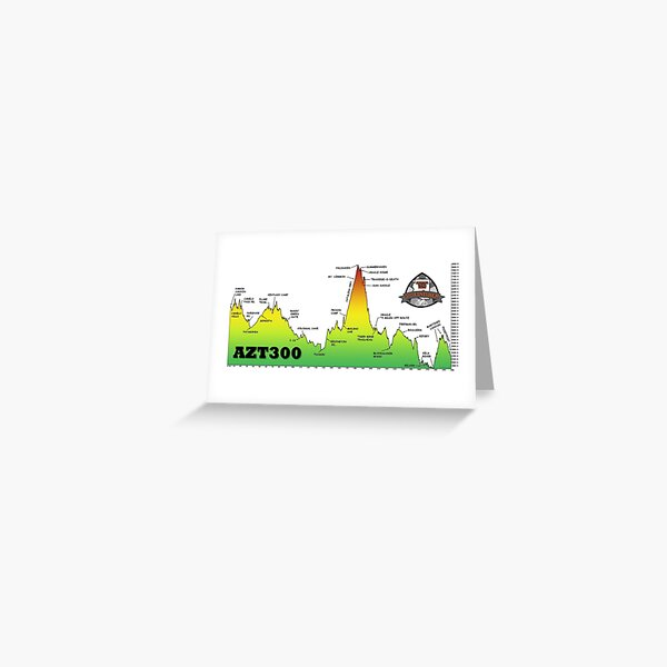 AZT300 Finisher Elevation Profile Greeting Card