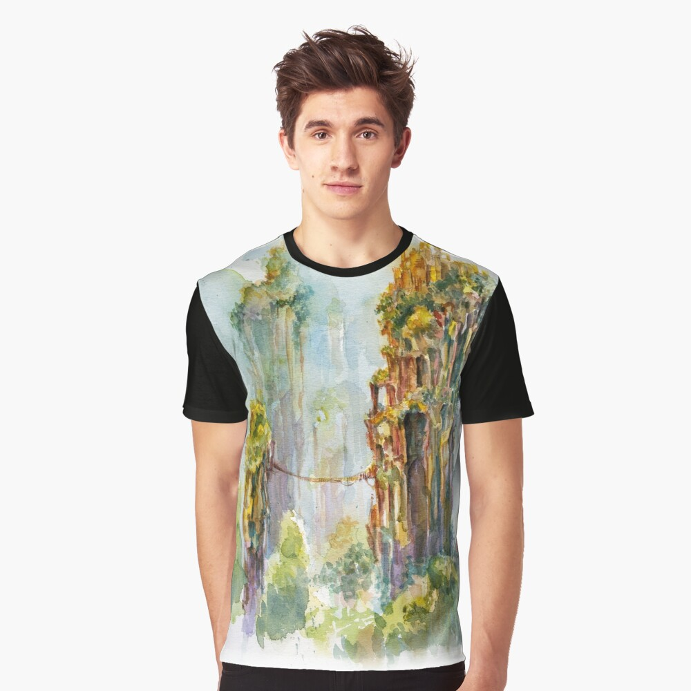 Pillars of Angae - Watercolor Art by Tony Moy Graphic T-Shirt