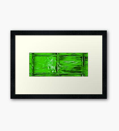 Simply Green Framed Print
