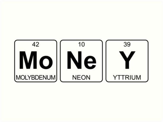 Mo ne y money periodic table chemistry art prints by jenny mo ne y money periodic table chemistry by jenny zhang urtaz