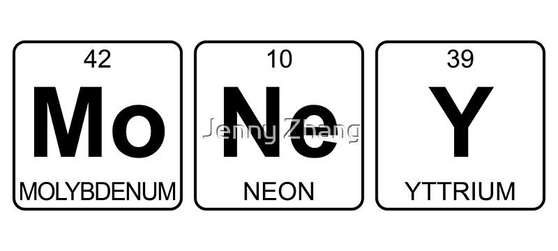 Mo ne y money periodic table chemistry posters by jenny mo ne y money periodic table chemistry by jenny zhang urtaz Choice Image