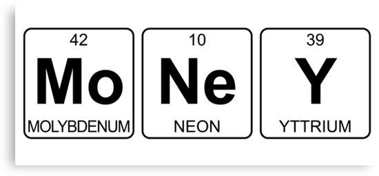 Mo ne y money periodic table chemistry canvas prints by jenny mo ne y money periodic table chemistry by jenny zhang urtaz Image collections
