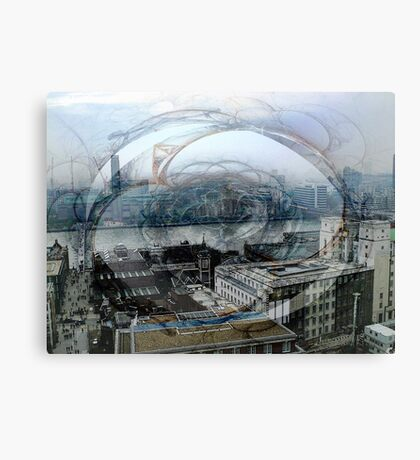 Swirling London Town Canvas Print