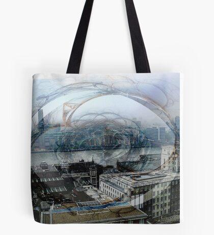 Swirling London Town Tote Bag