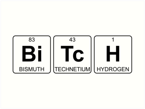 bi tc h bitch periodic table chemistry by jenny zhang - Periodic Table For Chemistry