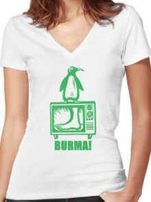 "Monty Python - ""BURMA!"" Women's Fitted V-Neck T-Shirt"