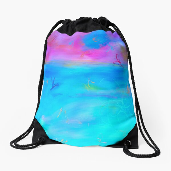 Modern Abstract Painting 2 Drawstring Bag