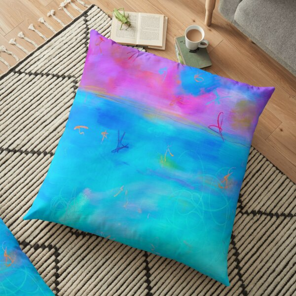 Modern Abstract Painting 2 Floor Pillow