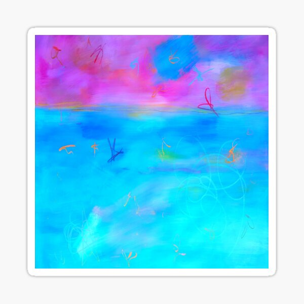 Modern Abstract Painting 2 Sticker
