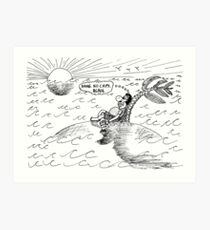 Occupy Solitude editorial cartoon Art Print