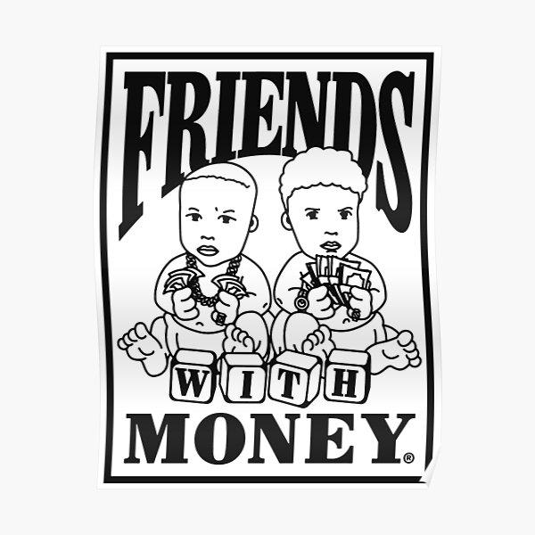 Amis avec logo argent Poster