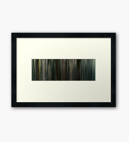 Moviebarcode: Children of Men (2006) Framed Print