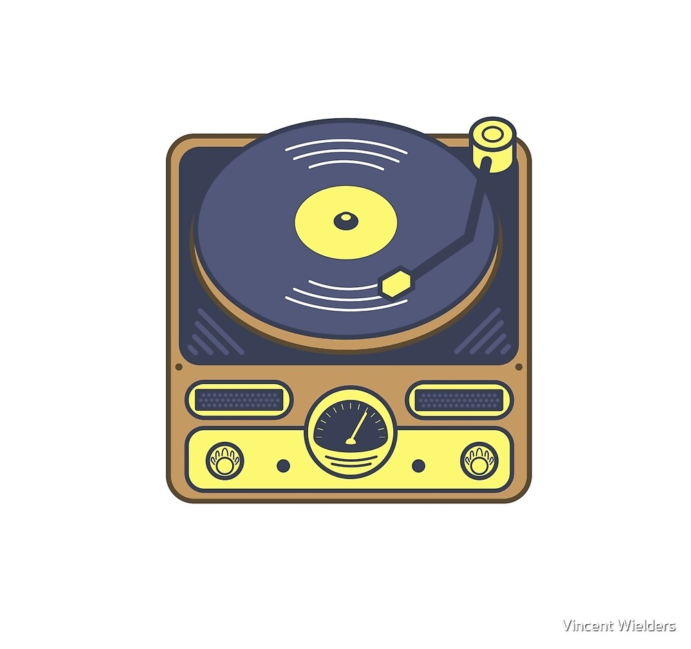 Vintage Record Player by Vincent Wielders