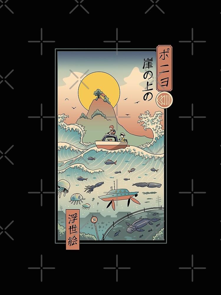 Ukiyo e by the Sea by vincenttrinidad