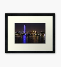 London at night Framed Print