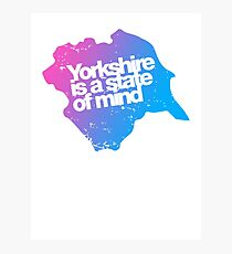 Yorkshire is a state of mind - Pink/blue Photographic Print