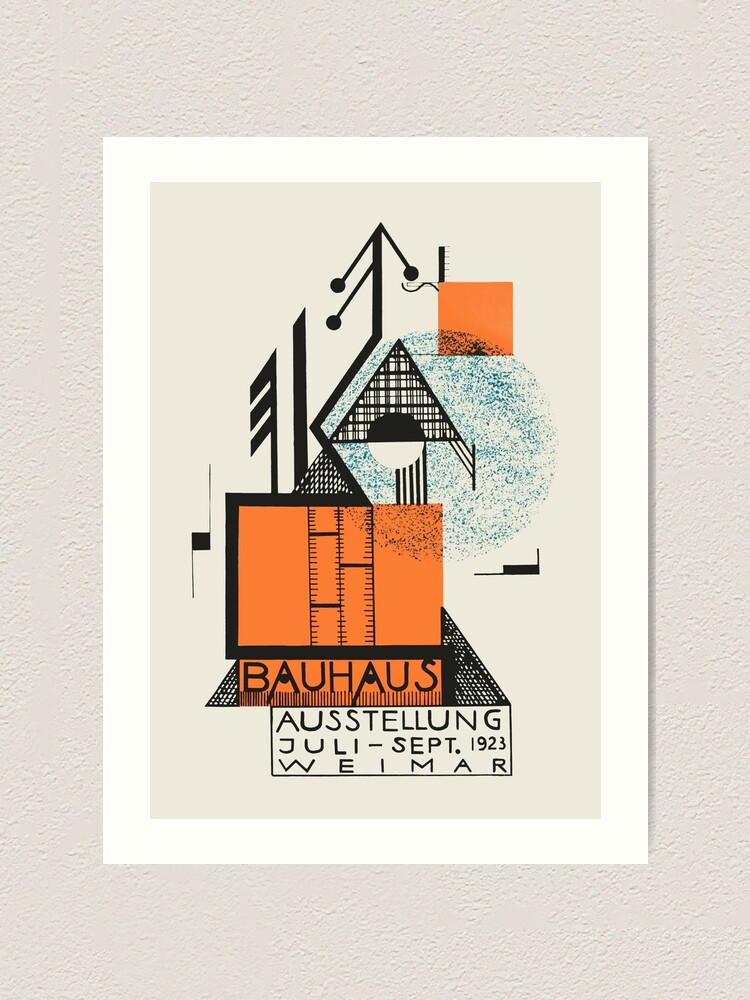 Alternate view of Bauhaus - Exhibition poster by Rudolf Baschant, 1923 Art Print