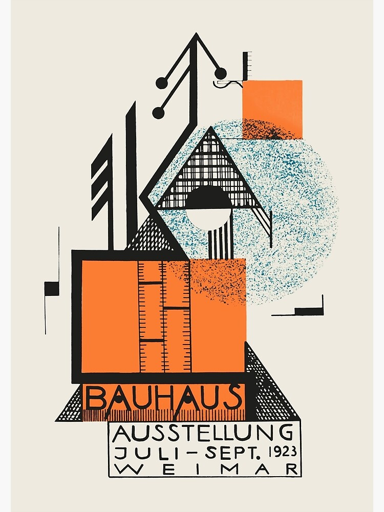 Bauhaus - Exhibition poster by Rudolf Baschant, 1923 by GOST2046