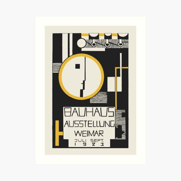 Bauhaus - The 1923 Bauhaus Exhibition Aussttellung Weimar Design by Rudolph Baschant Art Print