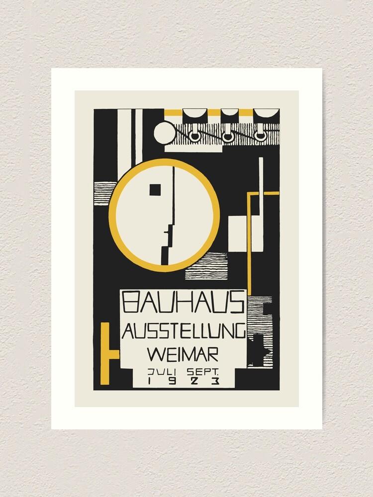 Alternate view of Bauhaus - The 1923 Bauhaus Exhibition Aussttellung Weimar Design by Rudolph Baschant Art Print