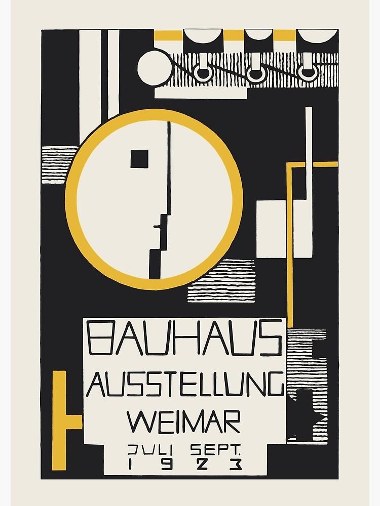 Bauhaus - The 1923 Bauhaus Exhibition Aussttellung Weimar Design by Rudolph Baschant by GOST2046