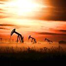 Sunset Pump Jacks by Angela E.L. Clements