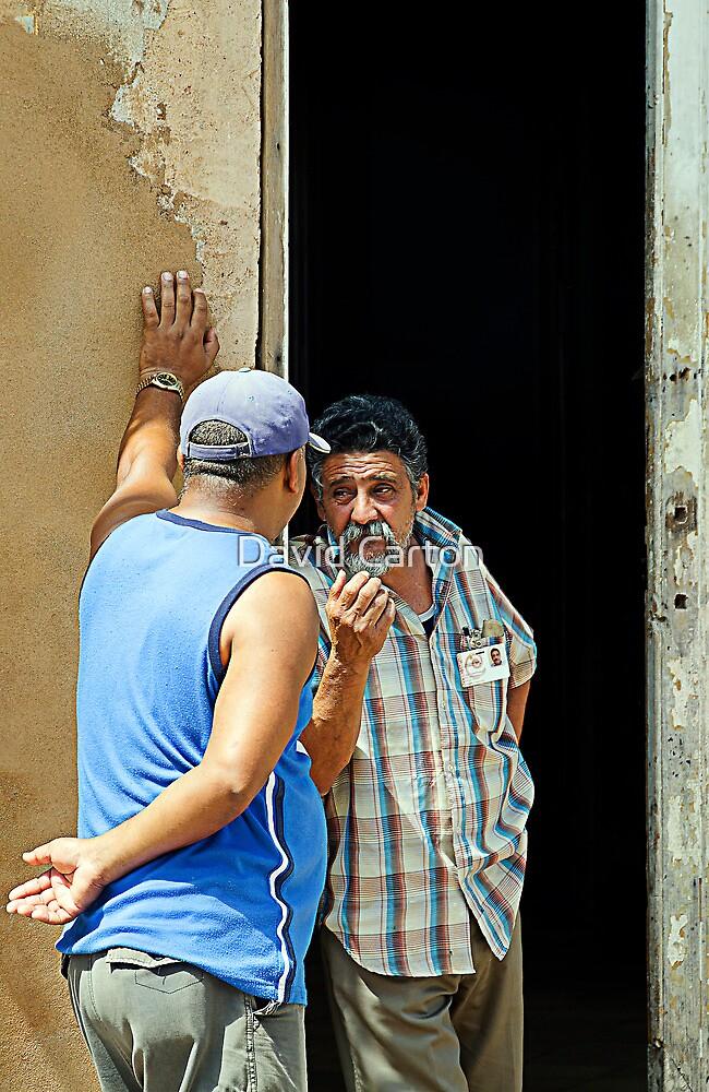 Shooting the breeze, Trinidad, Cuba by David Carton