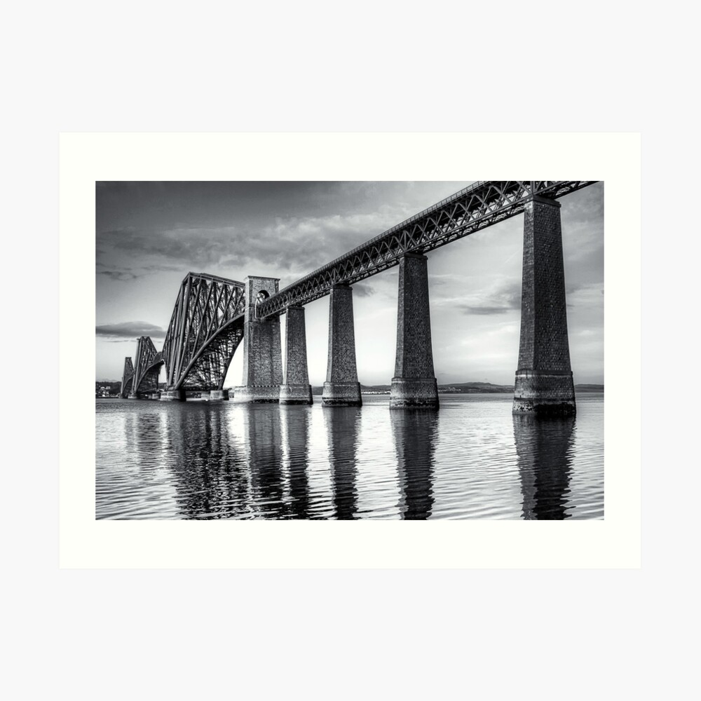 Forth Bridge Mono Art Print