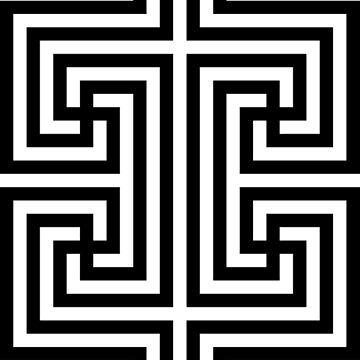 Geometric Swastika Pattern 4 - Black by thomasb139